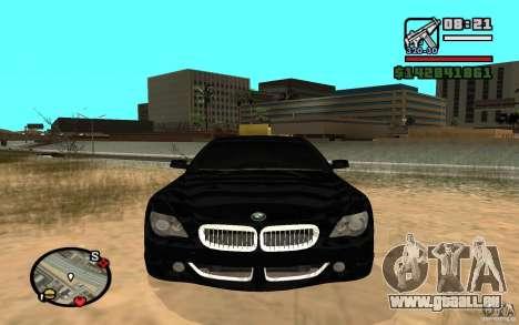 BMW M6 2006 pour GTA San Andreas laissé vue