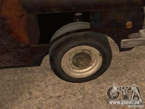 ZAZ-968 abandonné pour GTA San Andreas vue arrière