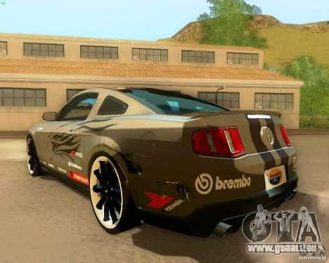 Ford Mustang Boss 302 2011 für GTA San Andreas Unteransicht