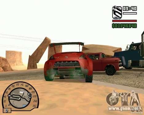 Nissan 370Z Undercover pour GTA San Andreas vue de droite