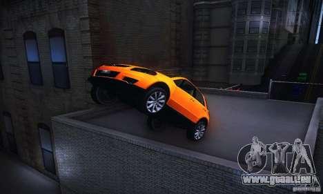 Suzuki SX4 Sportback Black 2011 pour GTA San Andreas vue arrière
