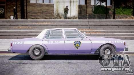 Chevrolet Impala Police 1983 v2.0 pour GTA 4 est un côté
