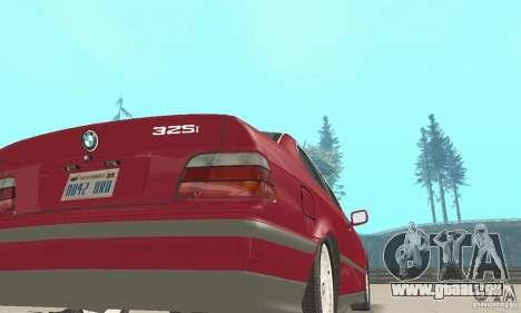 BMW 325i Coupe pour GTA San Andreas vue arrière