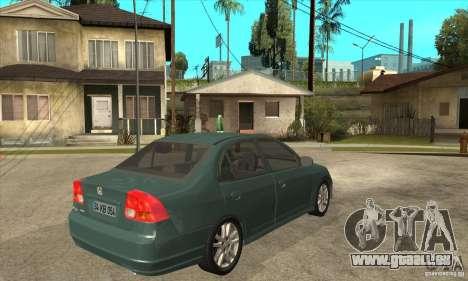 Honda Civic 2005 pour GTA San Andreas vue de droite