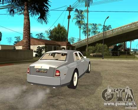 Rolls-Royce Phantom (2003) pour GTA San Andreas sur la vue arrière gauche