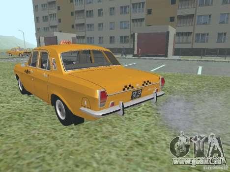 Taxi GAZ 24-01 pour GTA San Andreas vue intérieure