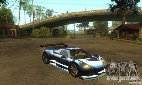 Gumpert Apollo Sport für GTA San Andreas Rückansicht