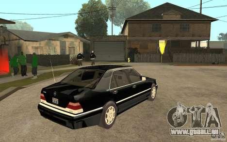 Mercedes-Benz S600 V12 W140 1998 V1.3 pour GTA San Andreas vue de droite