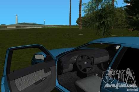 Lada Priora berline avec hayon arrière v2.0 pour une vue GTA Vice City de l'intérieur