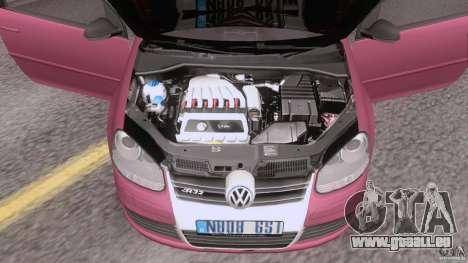 VW Golf 5 R32 2006 StanceWorks pour GTA San Andreas vue arrière