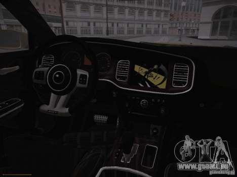 Dodge Charger SRT8 2012 für GTA San Andreas Innenansicht