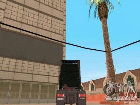 Scania 124L 420 pour GTA San Andreas sur la vue arrière gauche