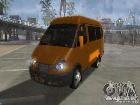 Taxi de Gazelle 2705 pour GTA San Andreas laissé vue
