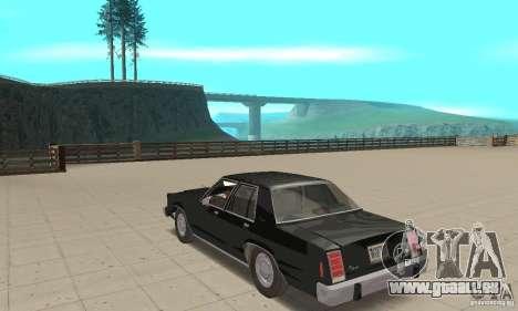 Ford LTD Crown Victoria 1985 MIB pour GTA San Andreas sur la vue arrière gauche