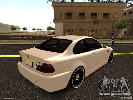 BMW M3 pour GTA San Andreas vue intérieure