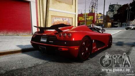 Koenigsegg CCXR Edition pour GTA 4 est un côté
