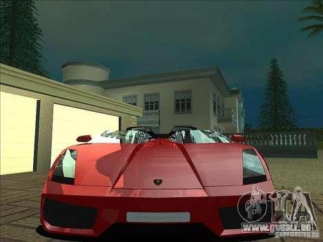 Lamborghini Concept S pour GTA San Andreas vue de dessous