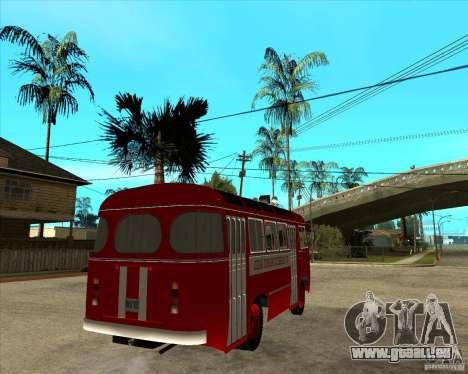 Pompier PAZ 672 pour GTA San Andreas sur la vue arrière gauche