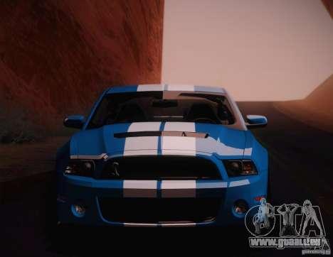 Ford Shelby GT500 2013 für GTA San Andreas zurück linke Ansicht