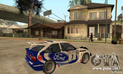 Ford Escort RS Cosworth pour GTA San Andreas vue de dessus