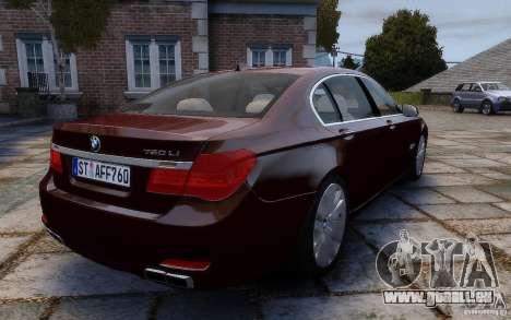 BMW 760Li 2011 pour GTA 4 Vue arrière