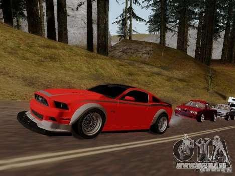 Ford Mustang RTR Spec 3 für GTA San Andreas Rückansicht