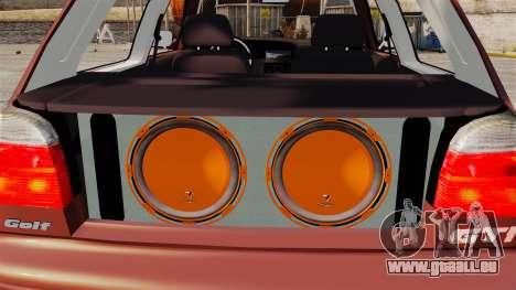 Volkswagen Golf MK3 Turbo pour GTA 4 est une vue de l'intérieur