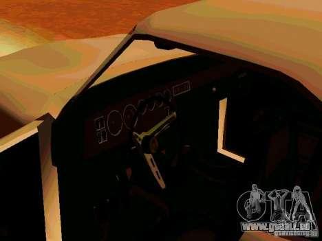 Plymouth Road Runner 426 HEMI 1970 pour GTA San Andreas vue arrière
