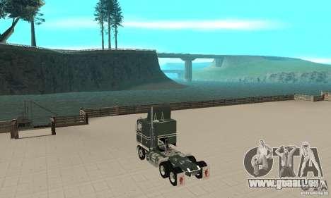Kenworth K100 USA Standard pour GTA San Andreas sur la vue arrière gauche