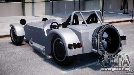 Caterham Super Seven pour GTA 4 Vue arrière de la gauche