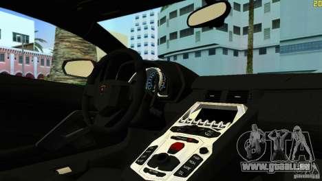 Lamborghini Aventador LP 700-4 pour une vue GTA Vice City de la gauche