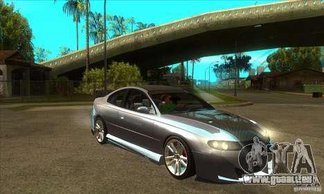 Holden Monaro CV8-R Tuned für GTA San Andreas Rückansicht