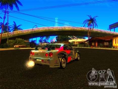 Nissan Skyline R34 Nismo pour GTA San Andreas laissé vue