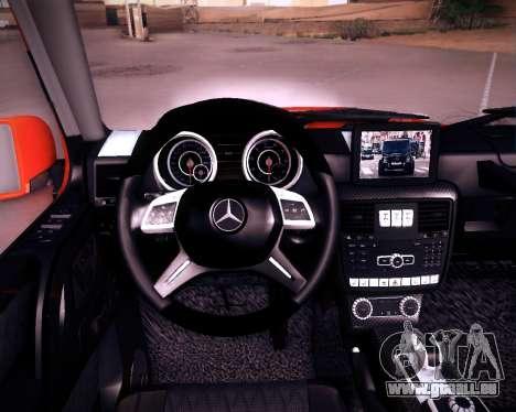 Mercedes-Benz G65 AMG 2013 Hamann für GTA San Andreas Innenansicht