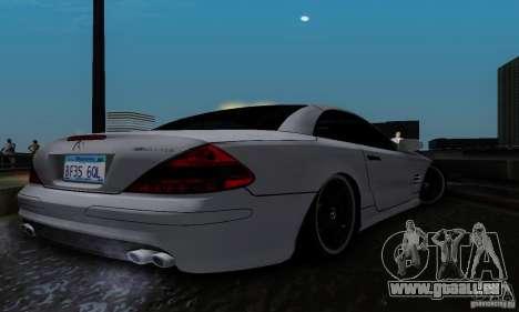 Mercedes Benz SL 65 AMG für GTA San Andreas zurück linke Ansicht