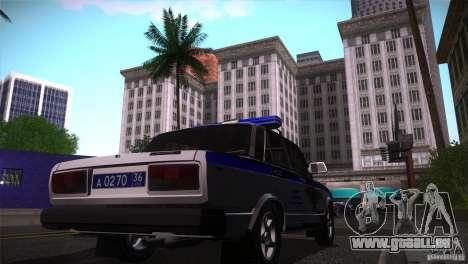 VAZ 2107 PPP Arzamas pour GTA San Andreas vue de droite