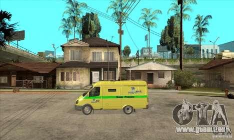 Gazelle du collecteur pour GTA San Andreas laissé vue