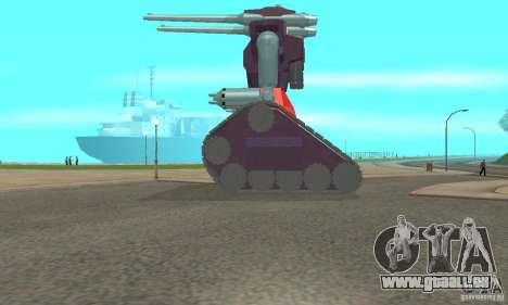 Tank RX-75-4 Guntank für GTA San Andreas linke Ansicht