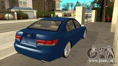 Hyundai Sonata NF pour GTA San Andreas vue de droite