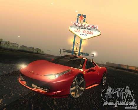 Ferrari 458 Italia Convertible für GTA San Andreas