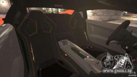 Lamborghini Gallardo LP570-4 Superleggera für GTA 4 Innenansicht