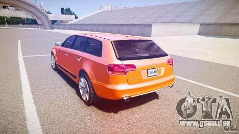 Audi A6 Allroad Quattro 2007 wheel 2 pour GTA 4 Vue arrière de la gauche
