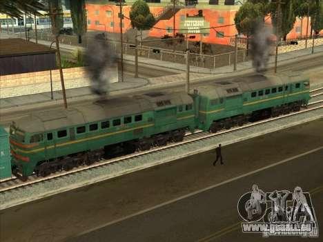 Chemin de fer d'États baltes locomotive fret pho pour GTA San Andreas sur la vue arrière gauche