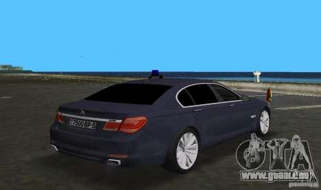 BMW 750 Li für GTA Vice City Rückansicht
