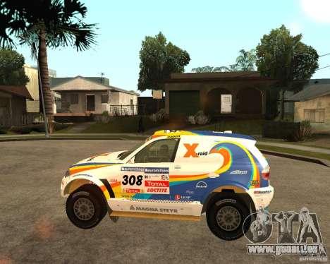 BMW X3CC X-Raid für GTA San Andreas zurück linke Ansicht