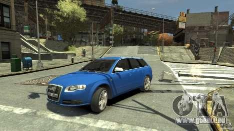 Audi S4 Avant pour GTA 4 Vue arrière