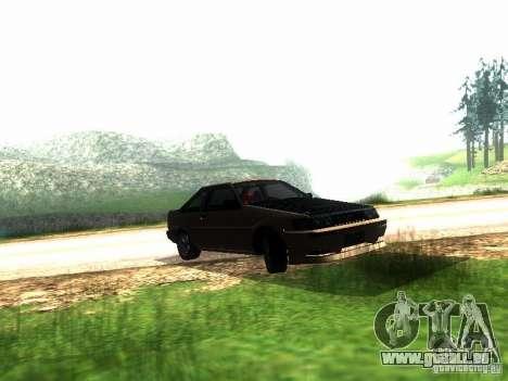 Toyota Corolla AE86 Levin pour GTA San Andreas laissé vue