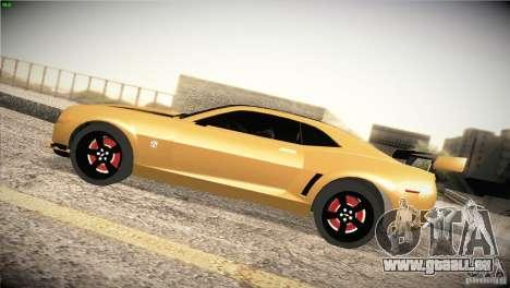 Chevrolet Camaro SS Transformers 3 pour GTA San Andreas laissé vue