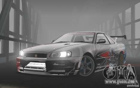 Nissan Skyline R34 Evil Empire pour GTA 4