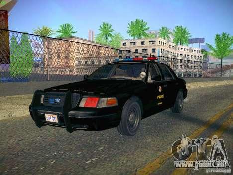 Ford Crown Victoria Police Intercopter für GTA San Andreas Rückansicht